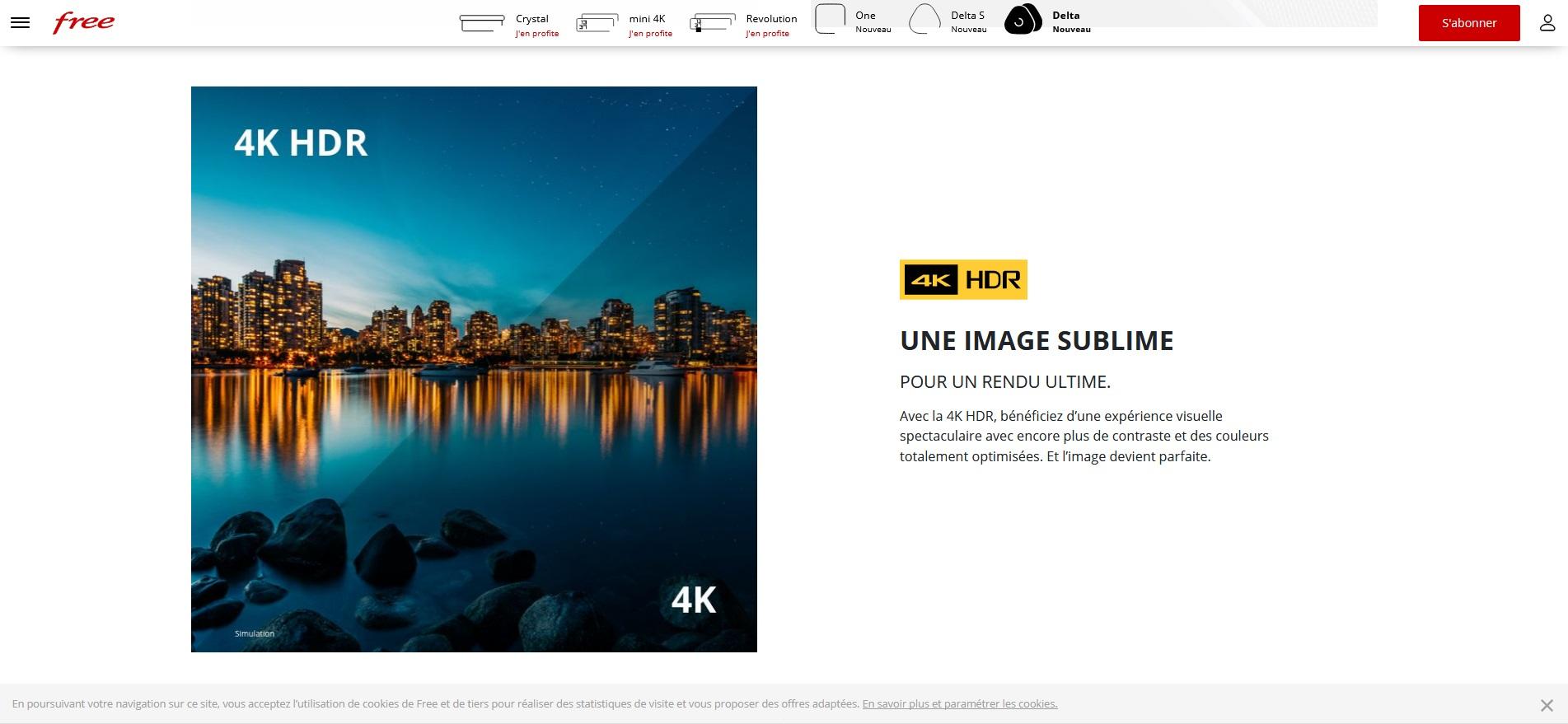 Freebox Delta : des abonnés affirment que la box ne gère pas le 4K HDR sur YouTube ou Netflix