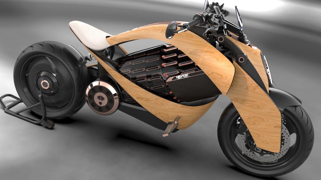 Cette moto électrique française est… en bois
