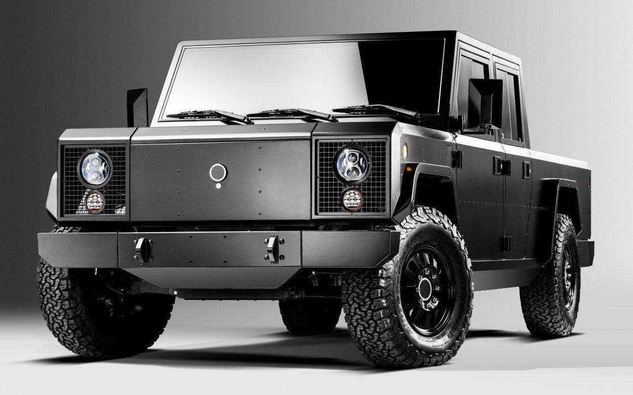 Voici la jeep et le pickup de Bollinger Motors conçus par un designer qui aime les rectangles noirs