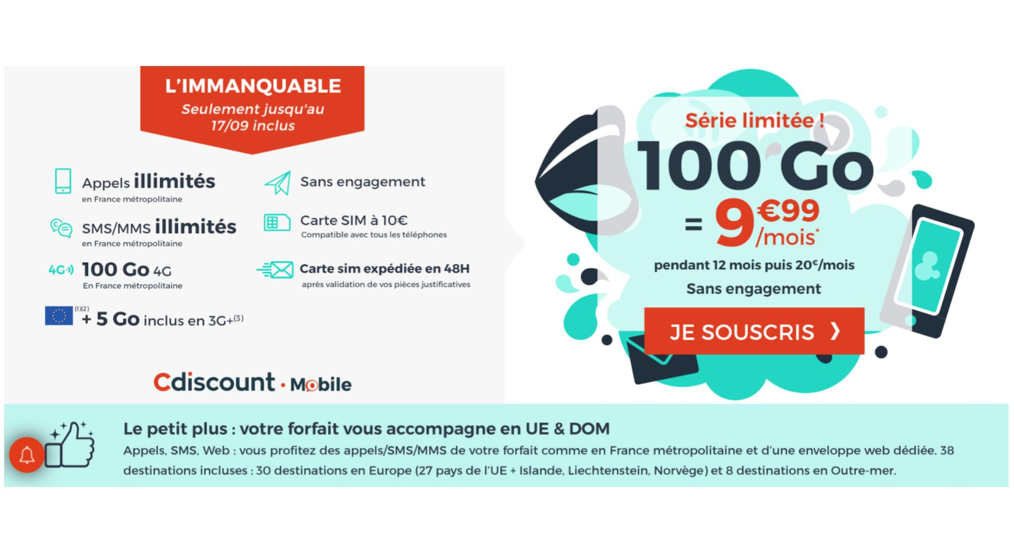 Carte Cdiscount Mobile.Le Deal Du Jour C Est Le Moment De Changer De Forfait Pour