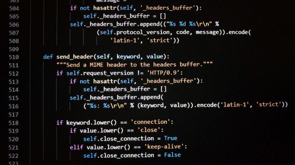 Des lignes de code en Python