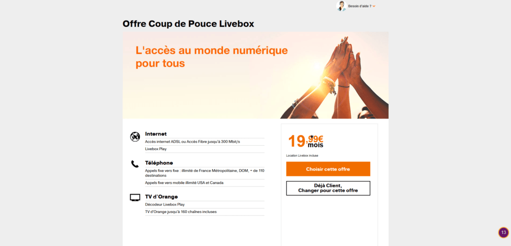 Orange Coup de Pouce