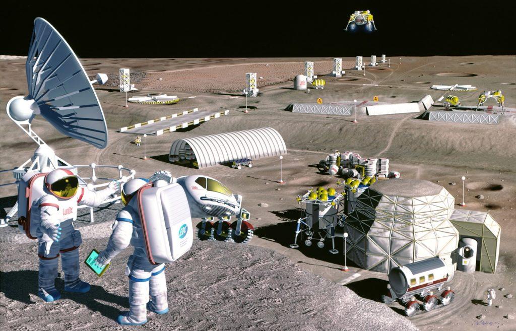 [SpaceIL] Beresheet - Mission de l'atterrisseur lunaire - Page 7 1683px-mooncolony-1024x657