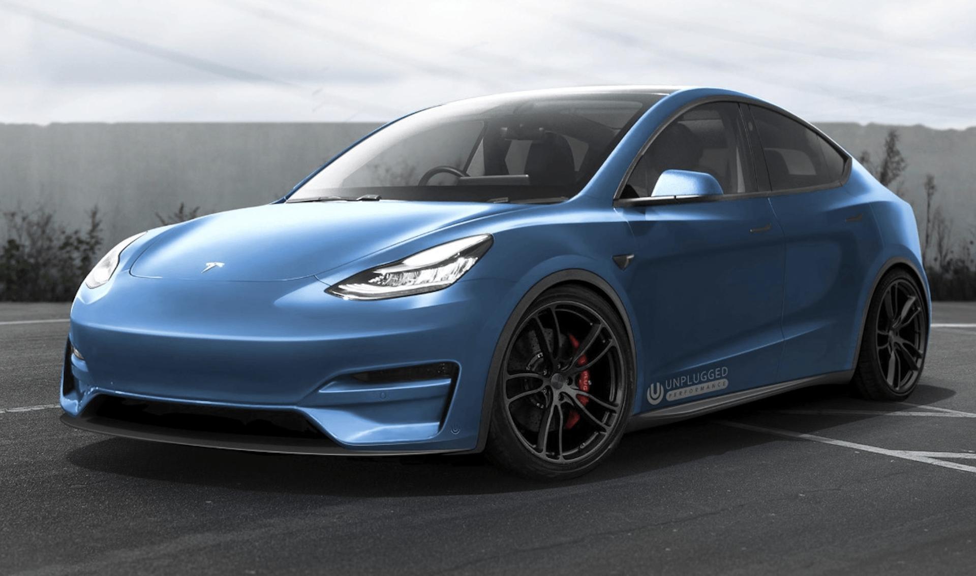 Le Tesla Model Y n'est pas sorti, mais les spécialistes du tuning préparent leurs concepts