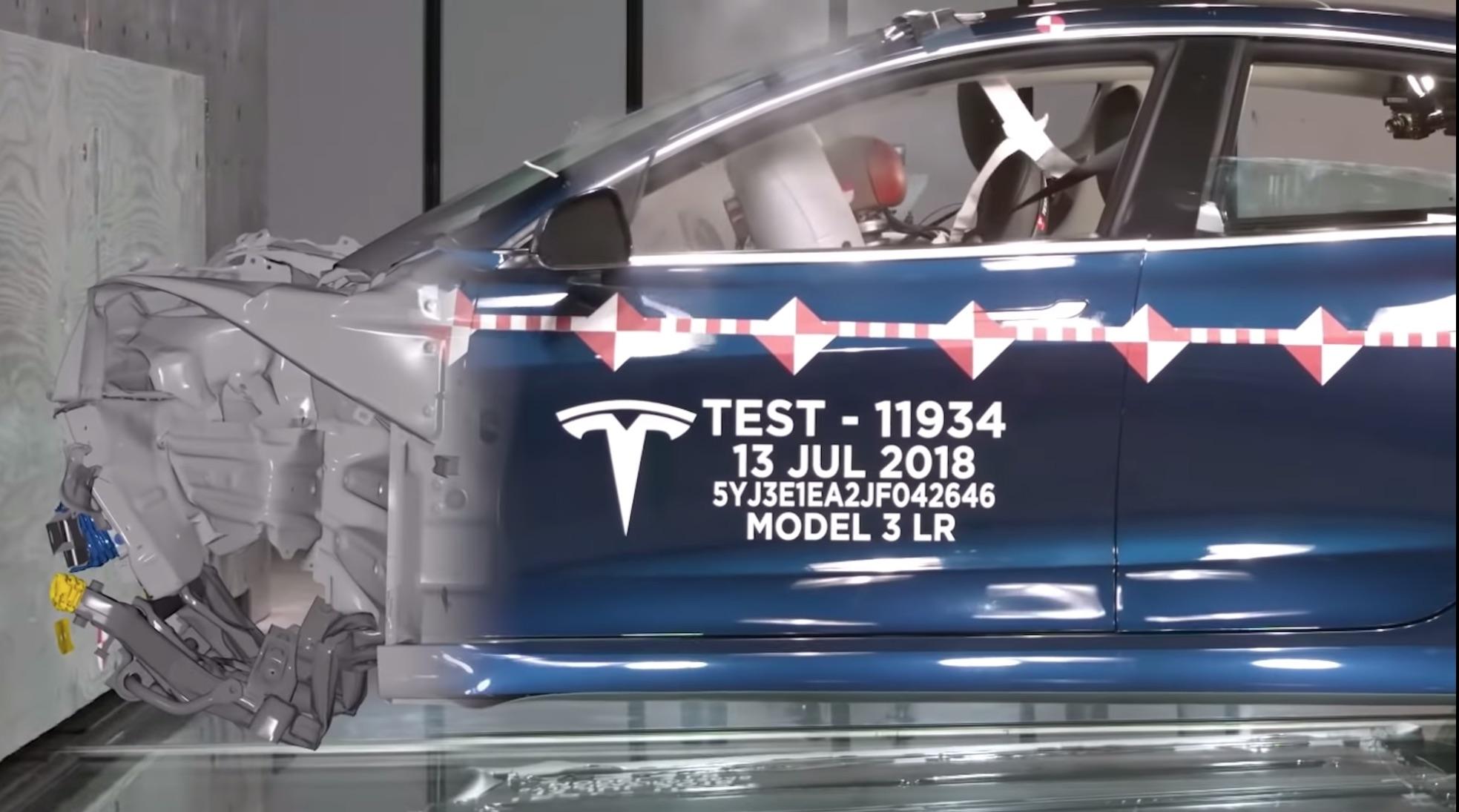 À quoi ressemble l'intérieur d'une Model 3 pendant un accident ? Tesla sort une vidéo crash-test