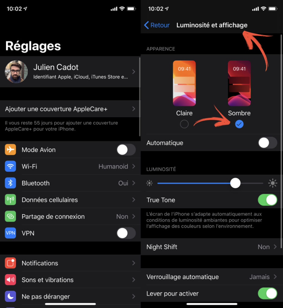 instagram mode sombre reglages 941x1024 - how to activate dark mode?