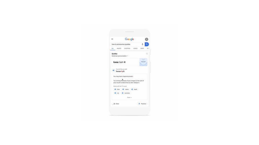 Google prononciation