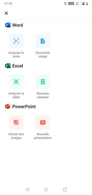 Microsoft Office application Android