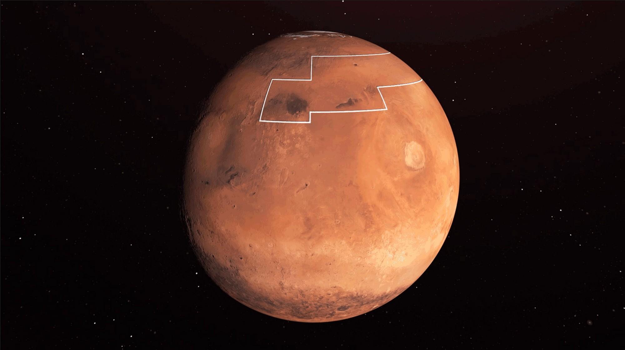 De l'eau glacée à 2 cm sous la surface de Mars : pourquoi cette découverte peut tout changer