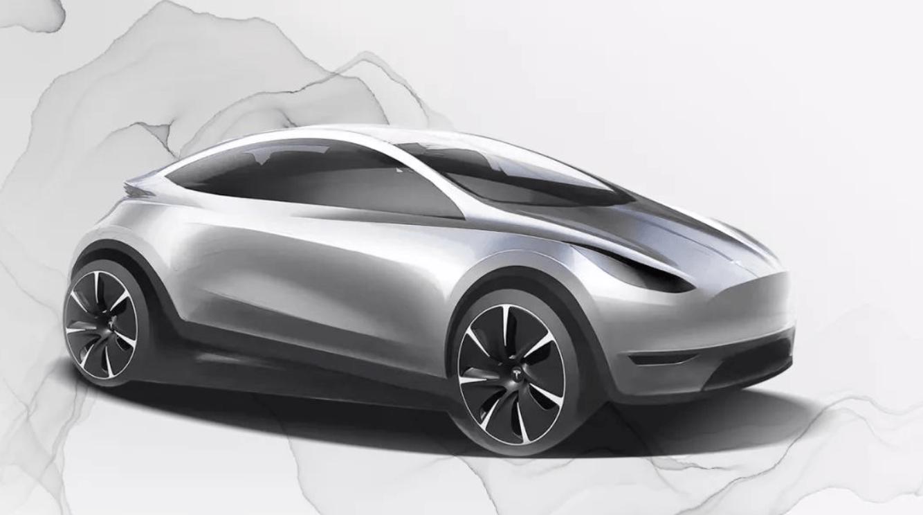 Tesla partage l'esquisse d'une nouvelle petite voiture électrique