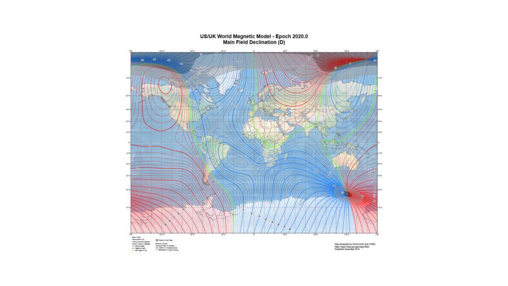 Modèle magnétique mondial 2020