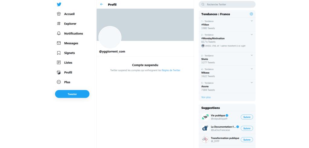 Twitter YggTorrent