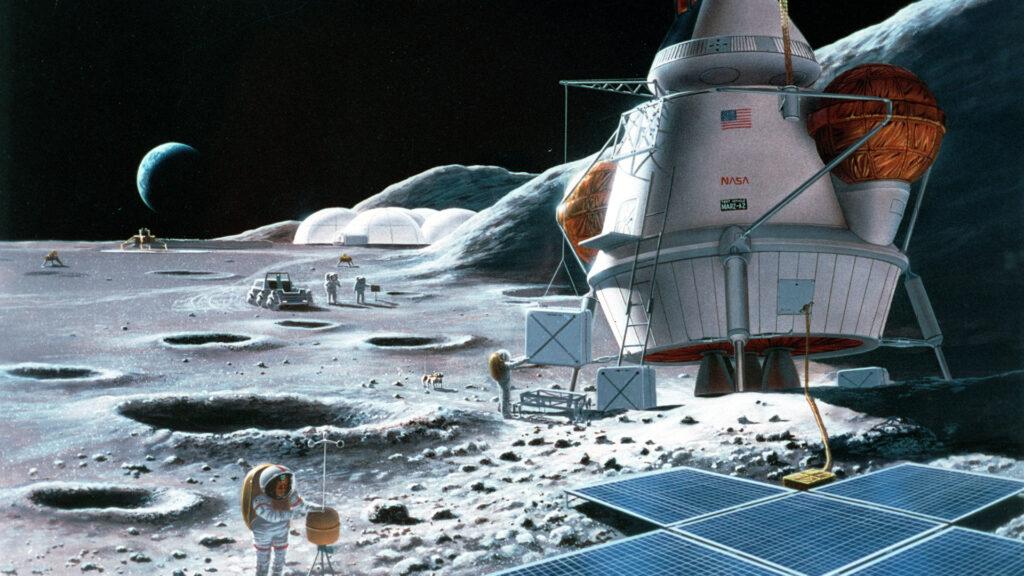 Et si l'urine des astronautes servait à construire des bases lunaires ?