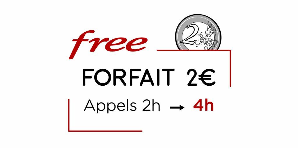 Free forfait 2 euros confinement
