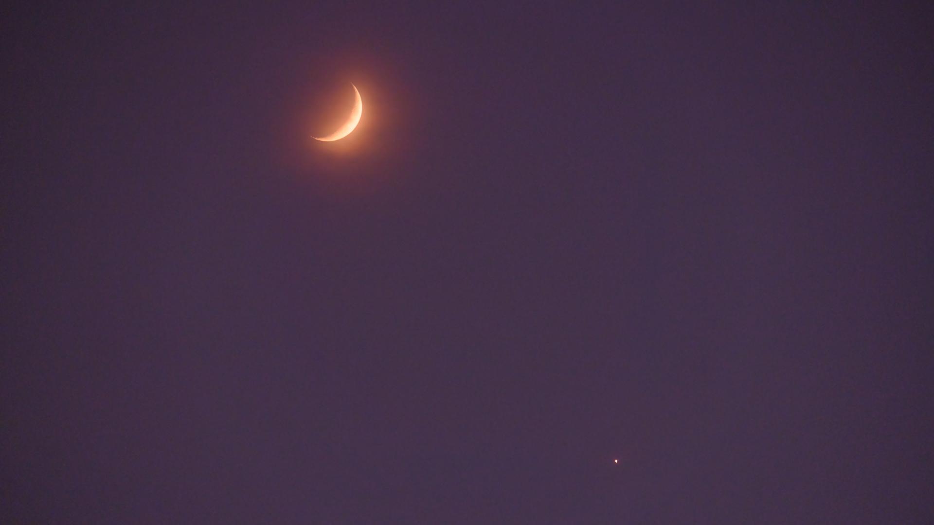 Ce samedi soir, ne manquez pas le beau croisement entre la Lune et Vénus