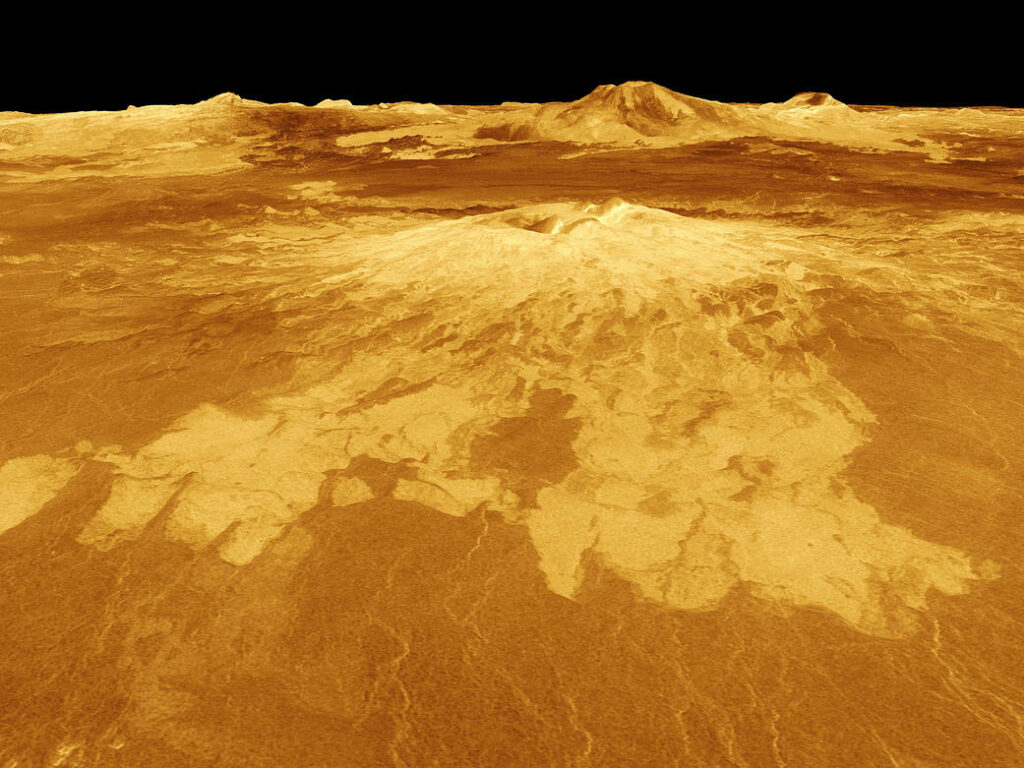 Volcan sur Vénus, Source: Nasa/JPL