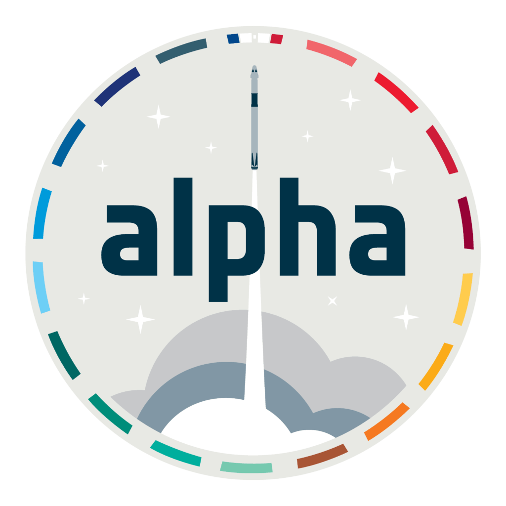 L'écusson de la mission Alpha.