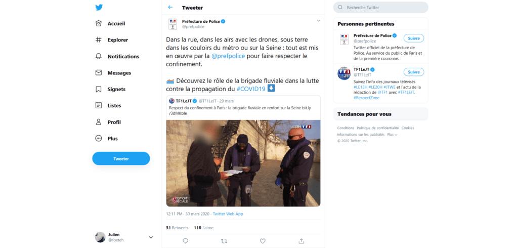 Drones Paris Police
