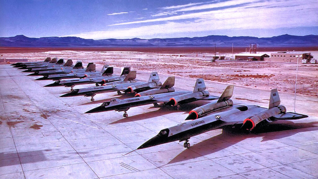 Lockheed A-12 Oxcart parking