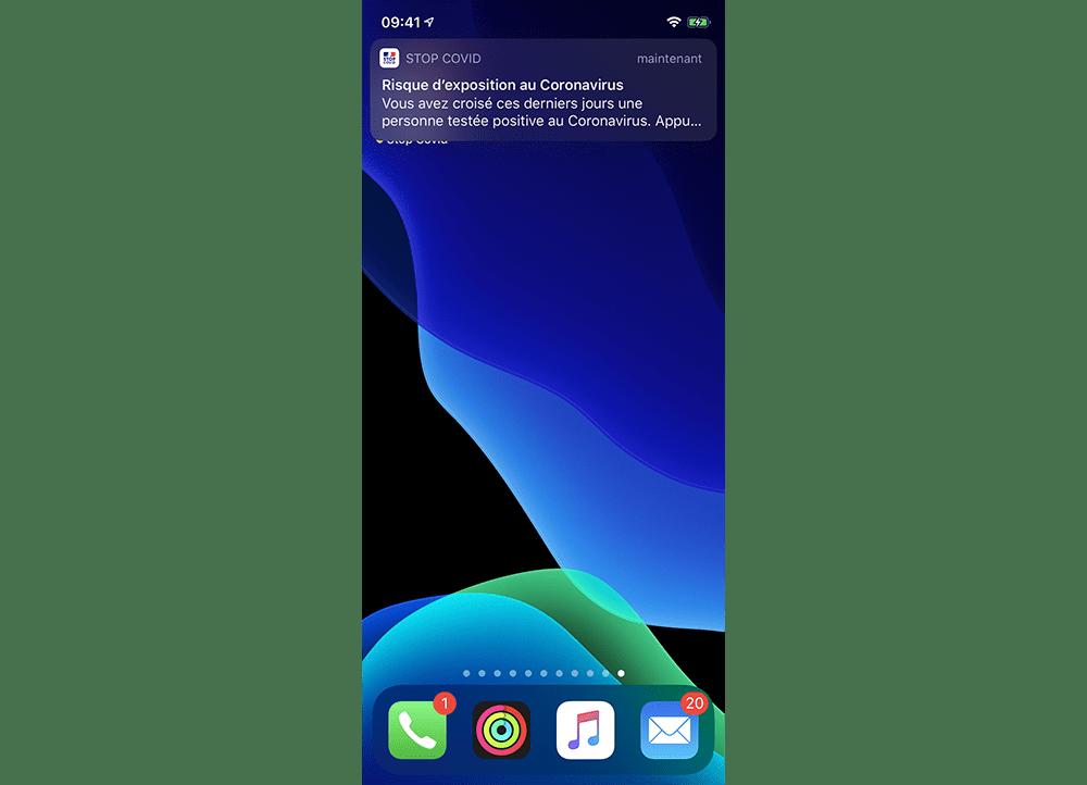 StopCovid notification