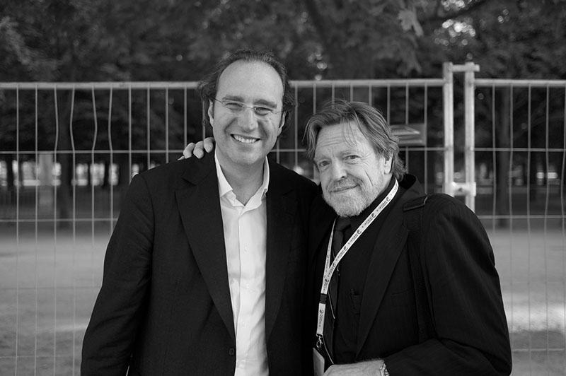 Xavier Niel et John Perry Barlow