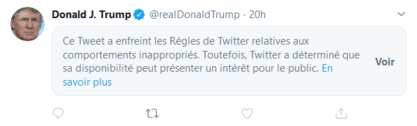 Donald Trump tweet masqué