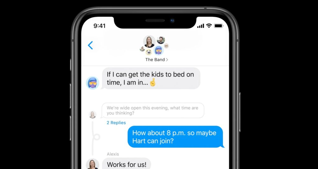 imessages 1024x543 - Your iPhone battery drains quickly since iOS 14? Apple offers a solution - Numerama