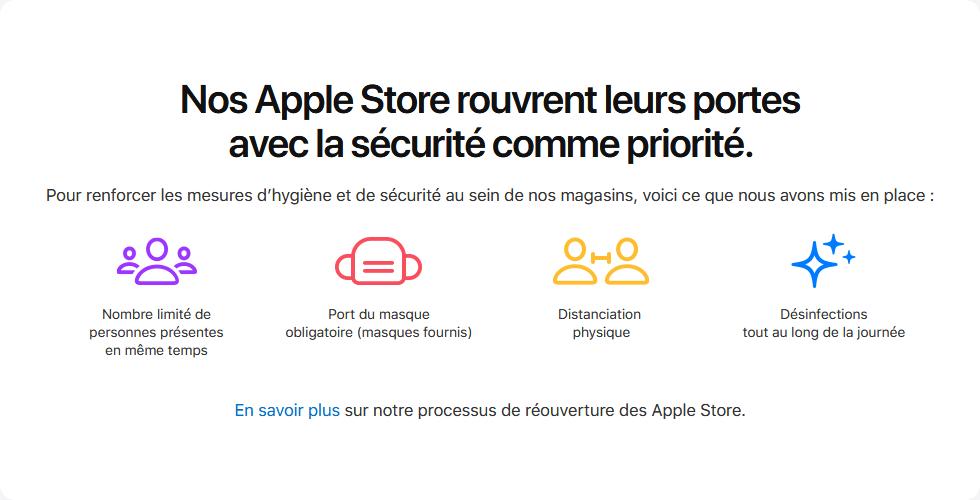 Réouverture Apple Store