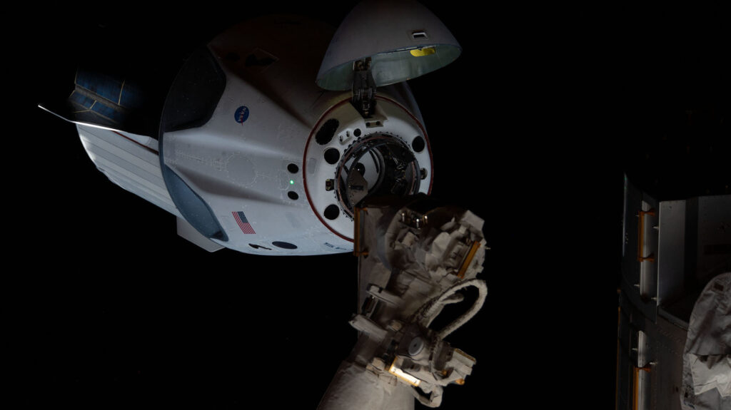 SpaceX Crew Dragon ISS docking