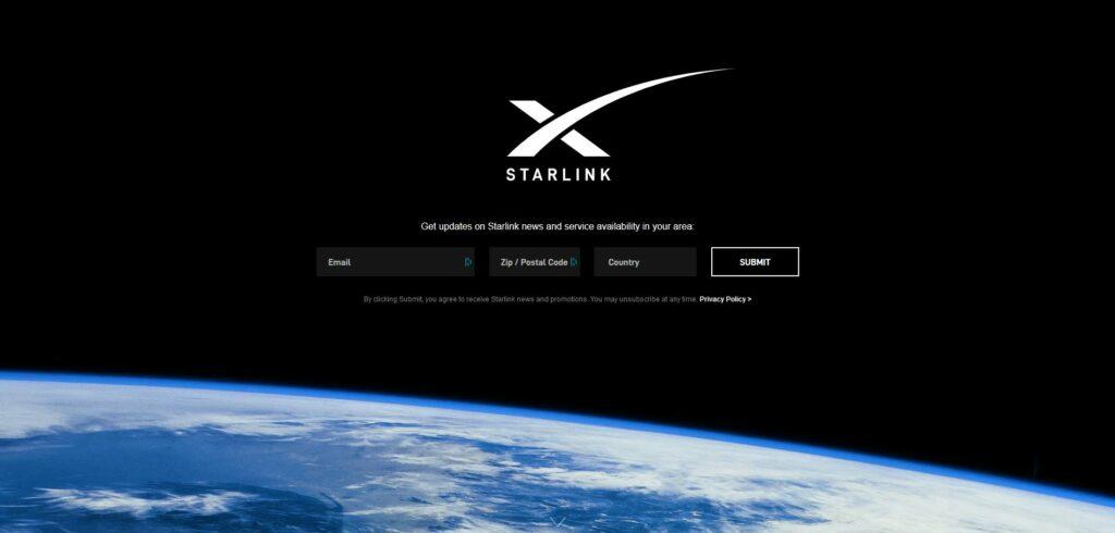 Starlink inscription
