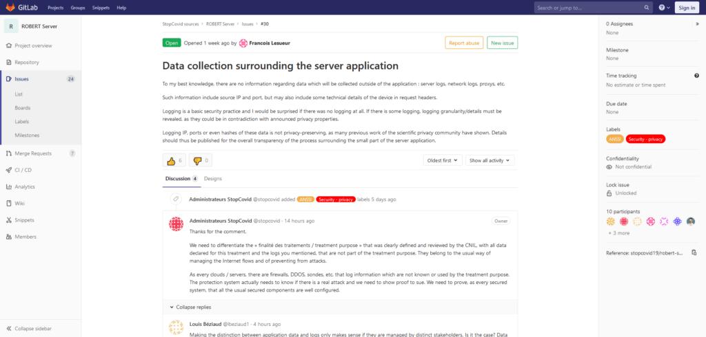 StopCovid GitLab