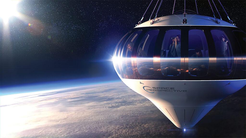 touriste capsule space perspective ballon stratosphérique