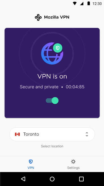 Mozilla VPN mobile