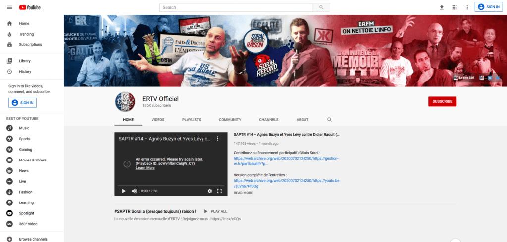 YouTube ERTV Officiel
