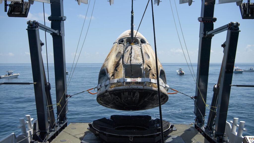 Crew Dragon récupération SpaceX