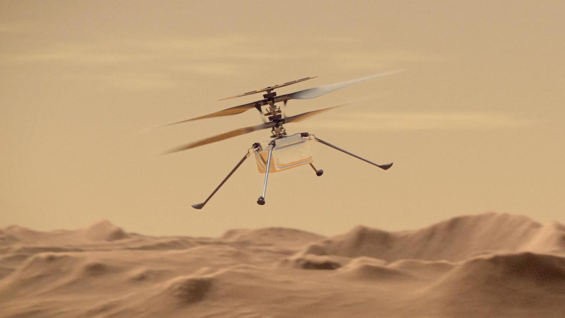 L'hélicoptère Ingenuity a été allumé dans l'espace pour la ...