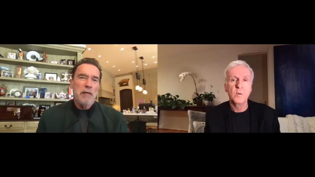 James Cameron et Arnold Schwarznegger