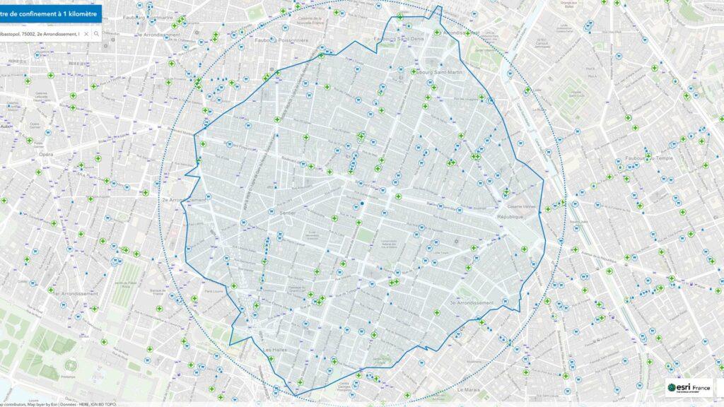 ESRI France carte confinement