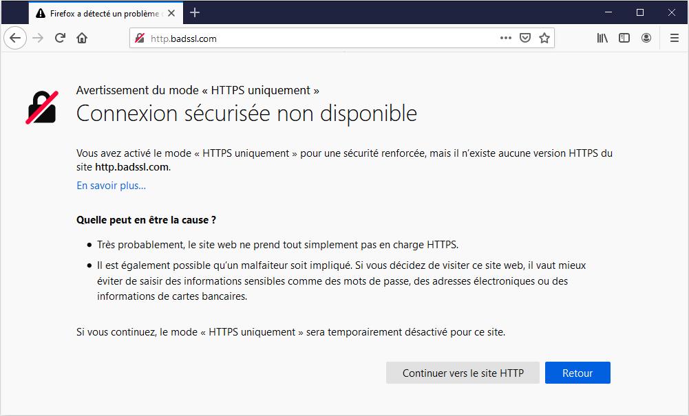 HTTP HTTPS Only