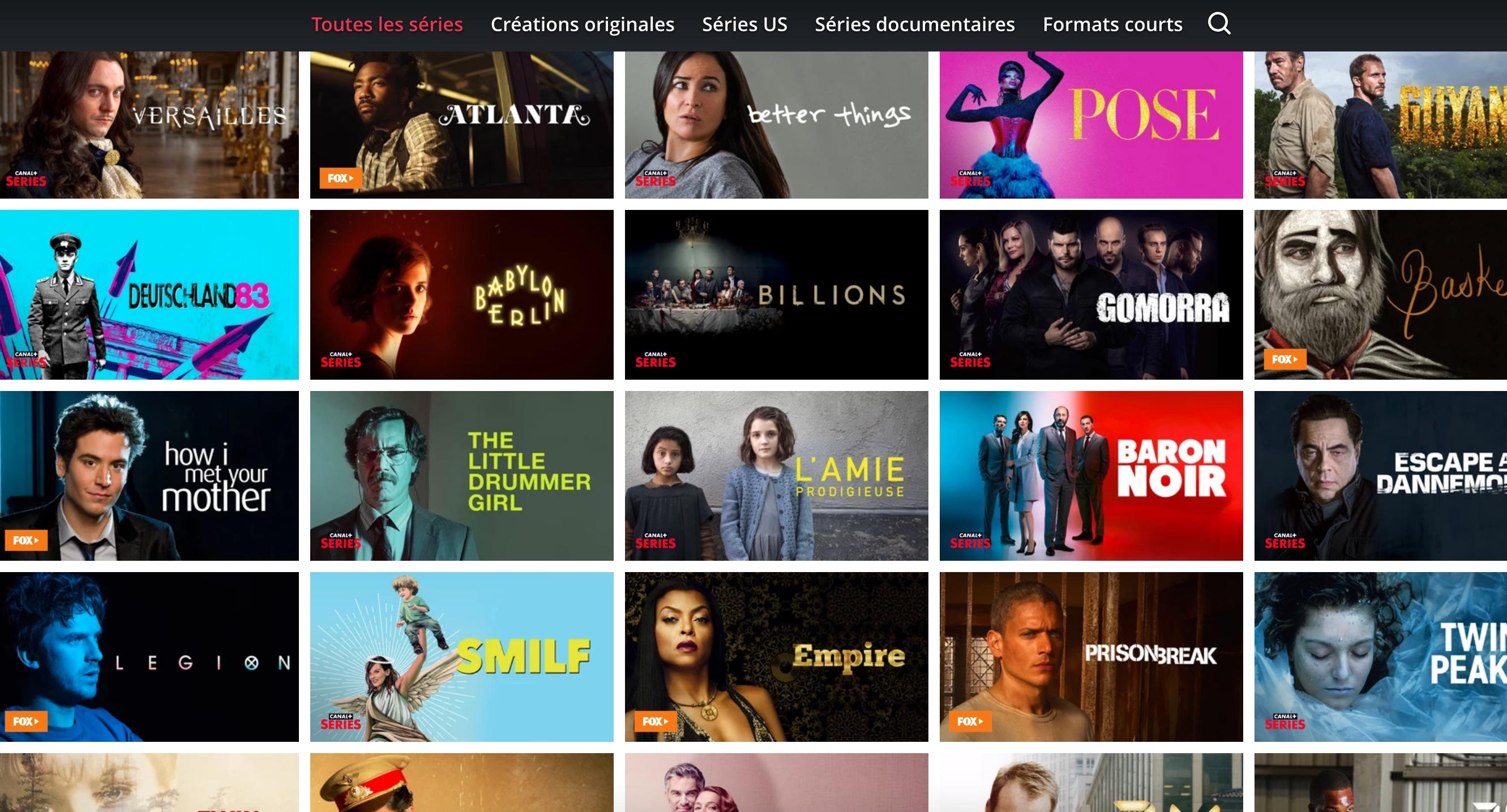 Canal+ Séries : quelles sont les 153 séries du catalogue du nouveau service français ?