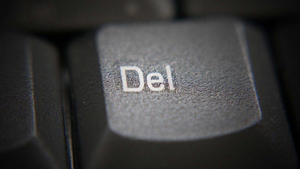 delete suppression effacement touche clavier