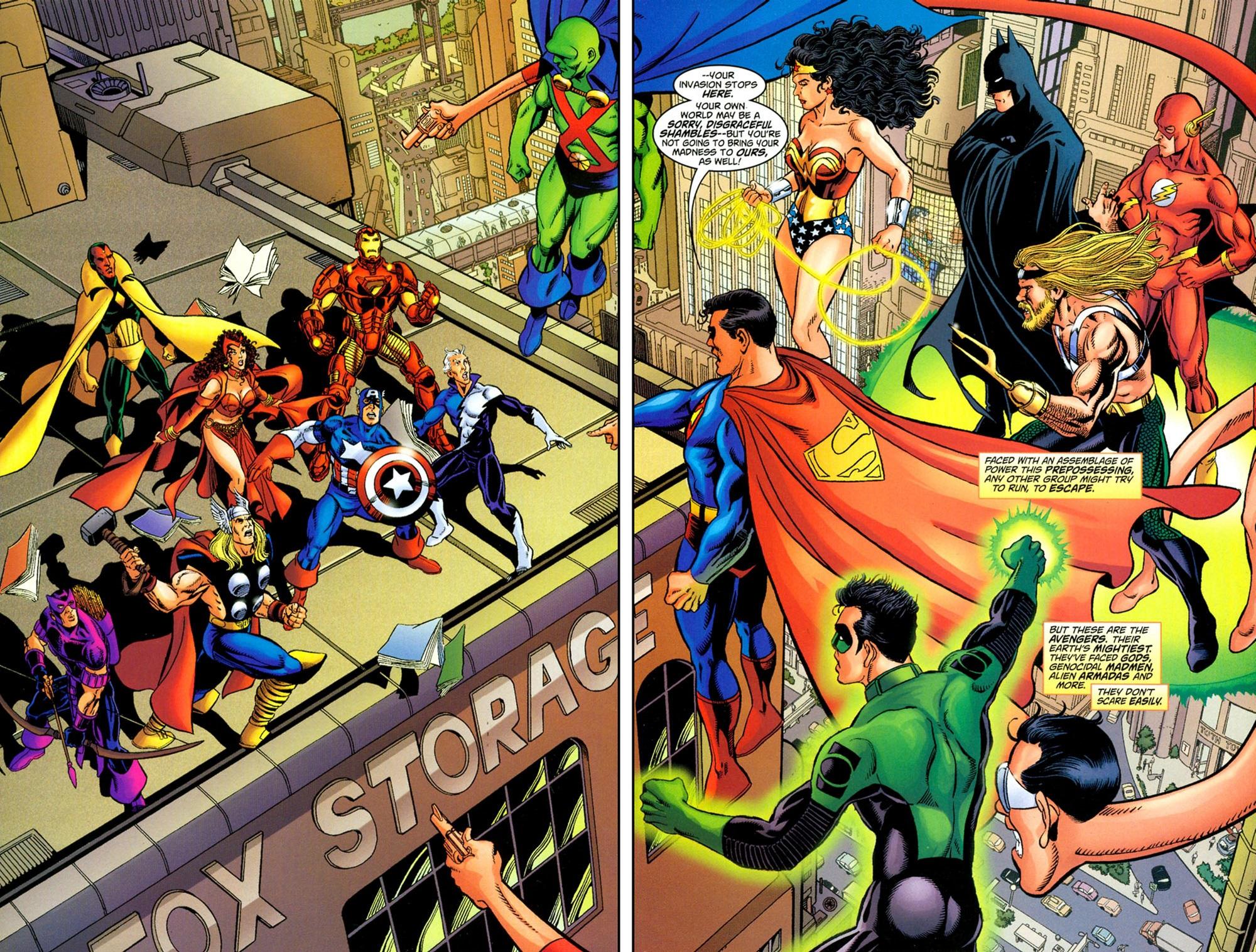 Quand les Avengers rencontrent JLA.