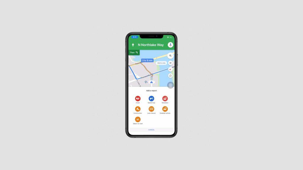 Google Maps alertes