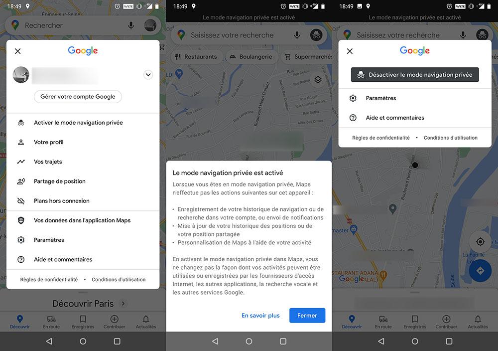 Actualités - Comment activer la navigation privée sur Google Maps