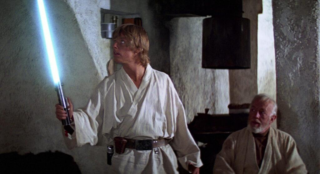 Star wars sabre laser luke skywalker obi wan kenobi