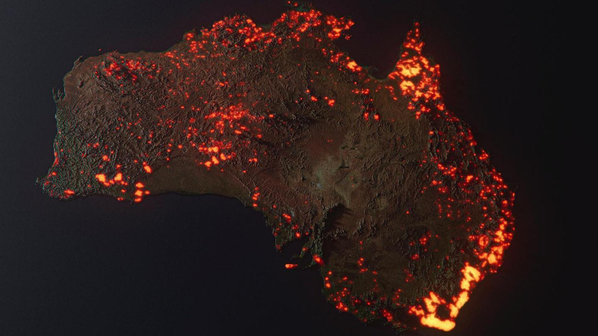 Non Cette Image De L Australie En Feu N Est Pas Une Photo Prise Par Satellite
