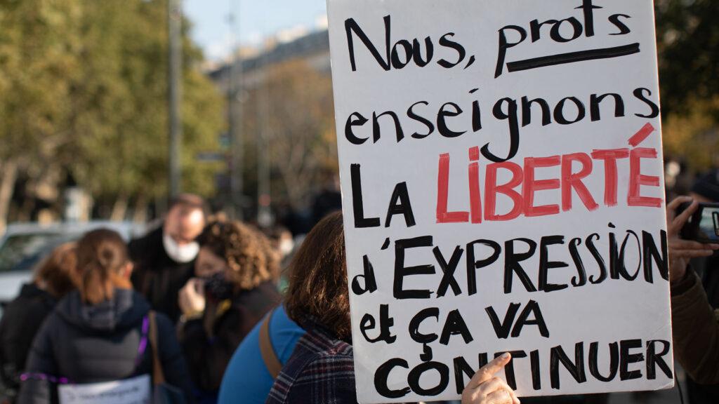Manifestation france liberté expression