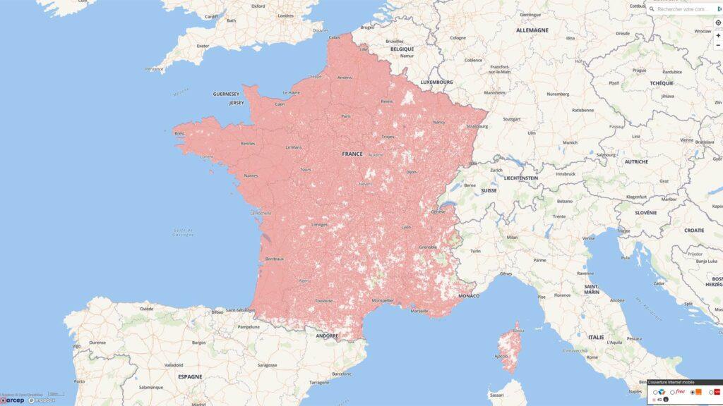 Arcep France 4G