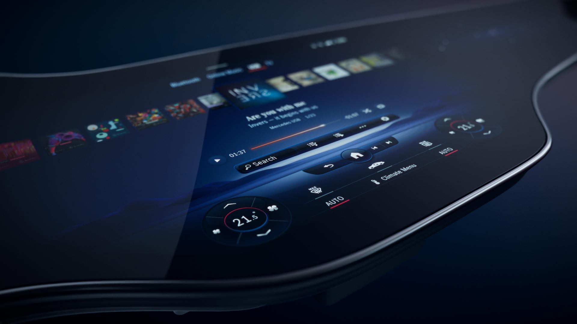 Mercedes promet un écran dans sa berline électrique, alimenté par une IA : vraiment ?