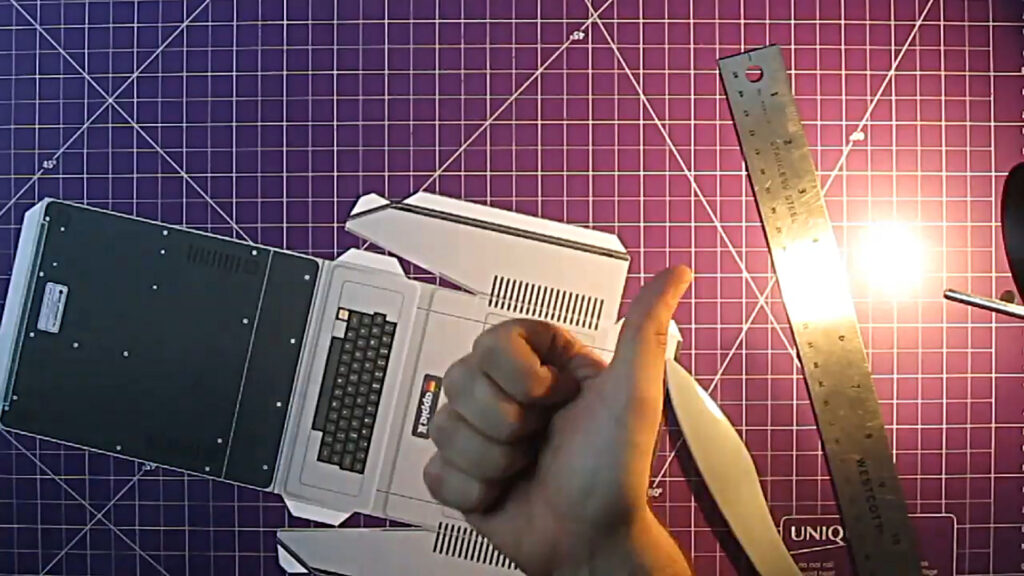 Apple II Papercraft Assembly